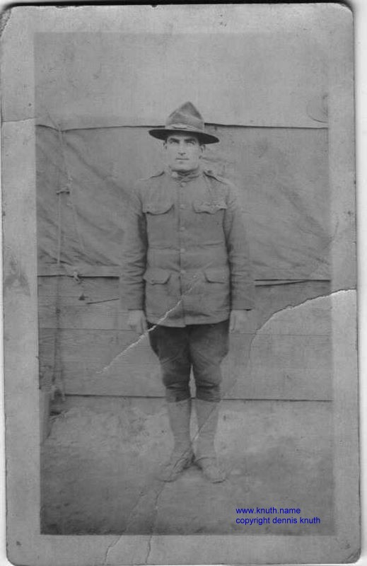 Rob Tumm of Augusta Wisconsin in 1919 Wold War I